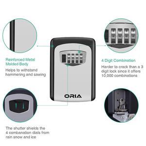 Image 5 - ORIA 4 Digit Combination Durable Key Storage Lock Box Wall Mounted Safety Key Lock Box Large Storage Capacity