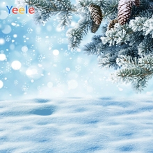 Yeele Christmas Photocall Scenery Pine Fallen Snow Photography Backdrops Personalized Photographic Backgrounds For Photo Studio