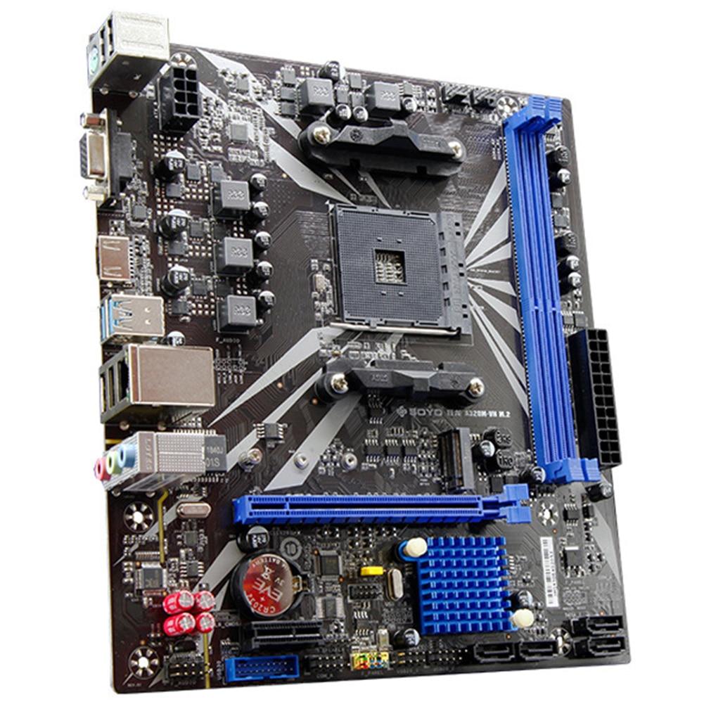 DDR4 Motherboard Alta Velocidade Dual Channel de Memória Fácil de Instalar Para O Profissional de Desktop VGA/HDMI AM4 A320M-VH Estável USB