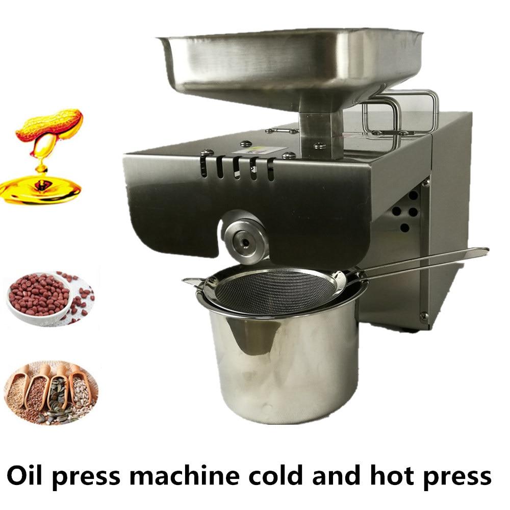 Mini home oil press machine commercial use for peanut, cocoa bean,sesame,flaxseed,almond,nut
