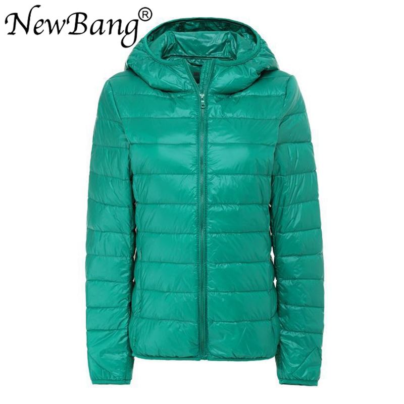 NewBang Brand Large Size 8XL 7XL Women's Overcoat Female Ultra Light Duck Down Jacket Plus Autumn Winter Hooded Down Coat