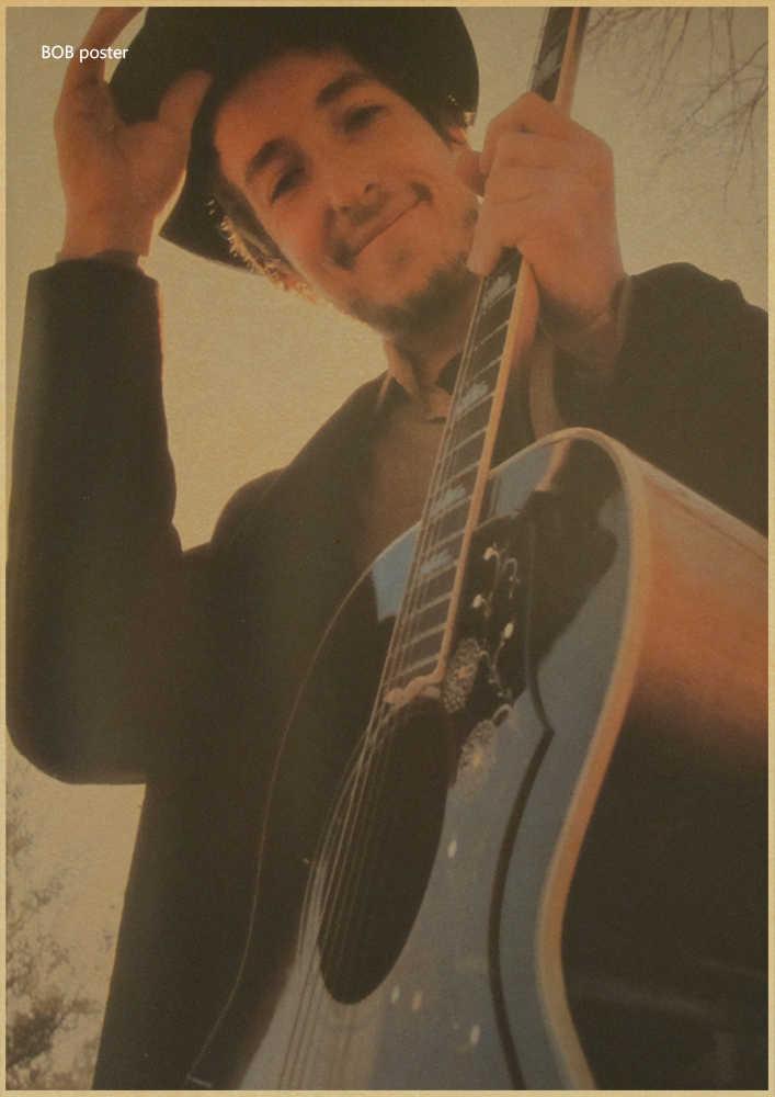 Bob Dylan Guitar vintage poster/ Ballad star/classic nostalgic  poster/Cafe/bar poster/ Retro Poster/decorative painting