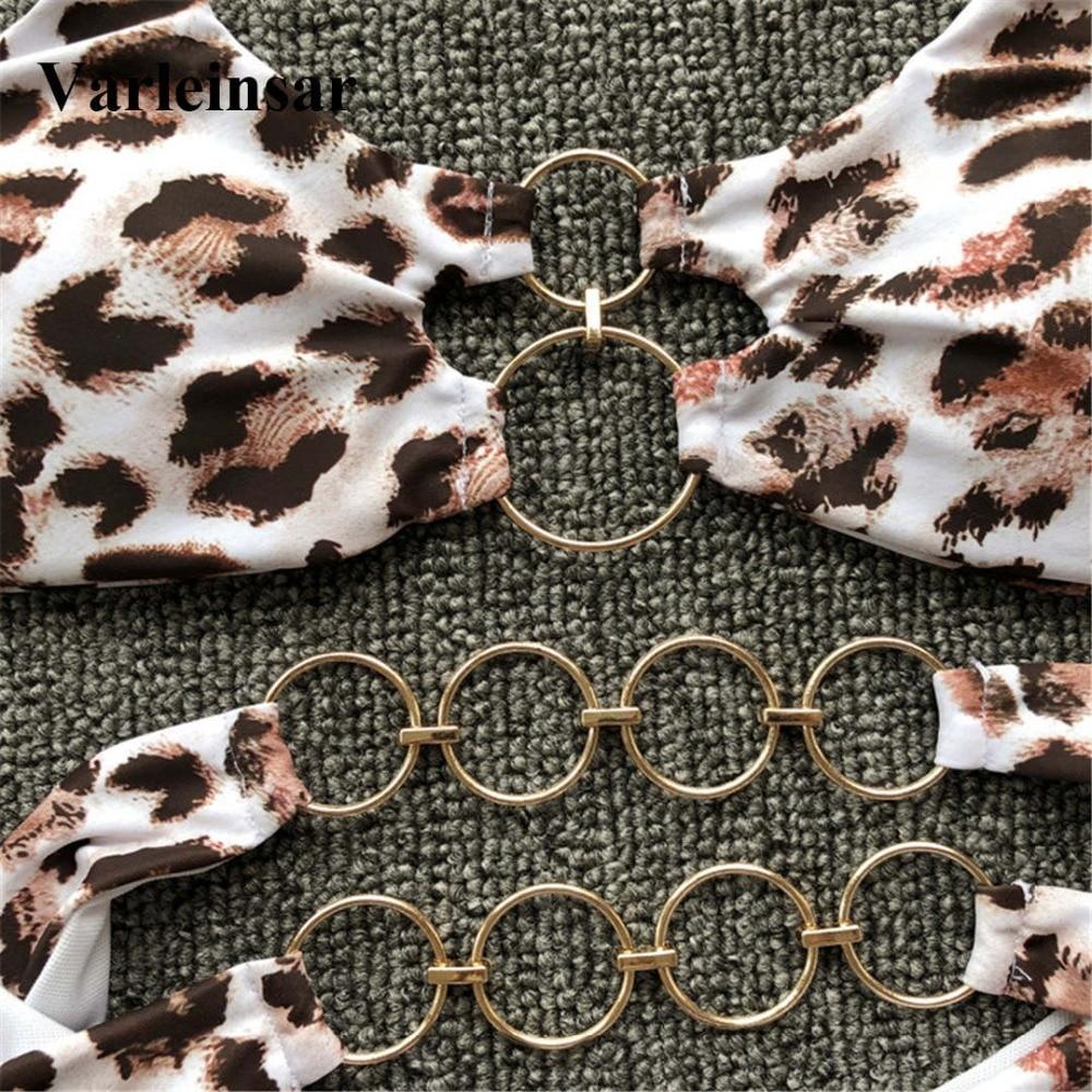 Sexy Metal Rings Brazilian Bikini 2019 Women Swimwear Female Swimsuit Two-piece Bikini set Thong Bather Bathing Suit Swim V1441