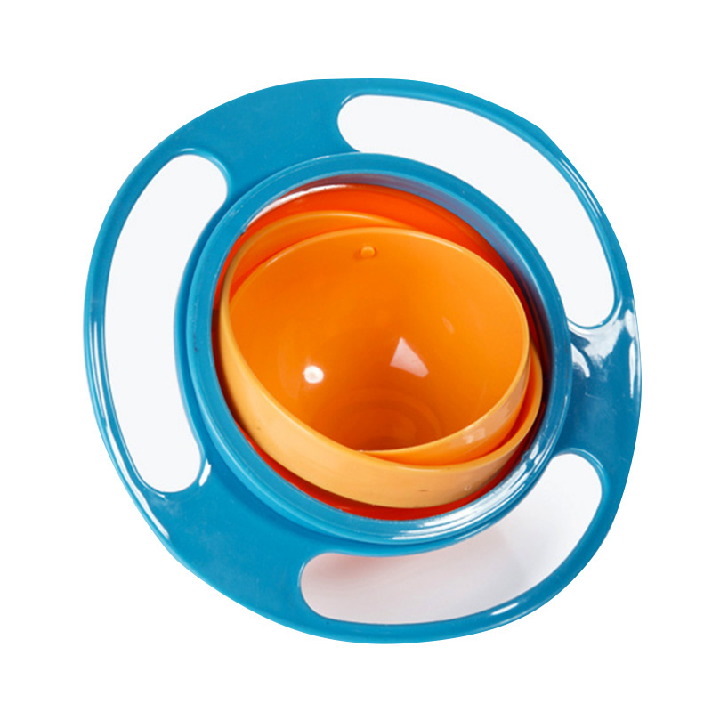 Universal Gyro Bowl Practical Design Children Rotary Balance Bowl Novelty Gyro Umbrella Bowl 360 Rotate kids bowl Solid Plate 1