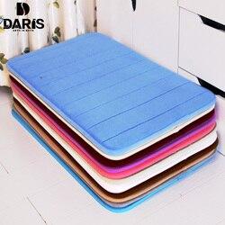 SDARISB tapis d'absorption d'eau tapis de salle de bain Shaggy mousse à mémoire de forme tapis de bain ensemble cuisine porte tapis de sol tapis pour toilette antidérapant