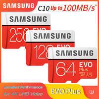 Cartão microsd de samsung 256g 128 gb 64 gb 32 gb 16 gb até 95 mb/s class10 u3/u1 evoplus cartão de memória micro sd cartão de memória