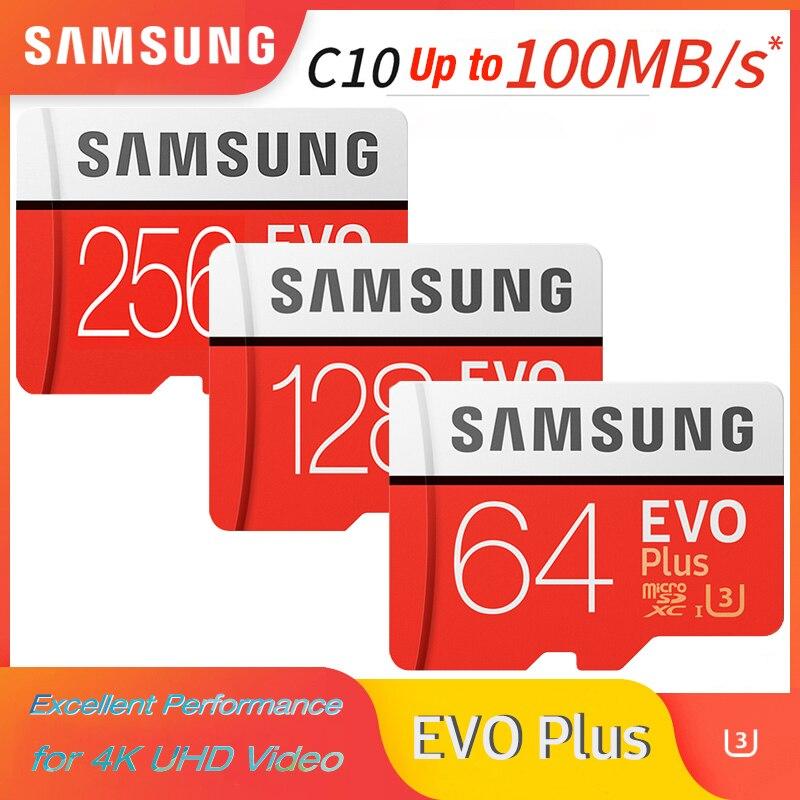 Carte microsd SAMSUNG 256G 128 go 64 go 32 go jusquà 60 mo/s Class10 U3/U1 EVOPlus carte micro sd carte mémoire