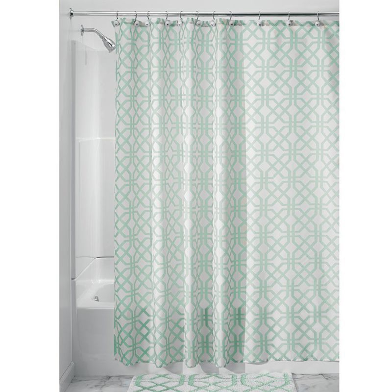 Polyester Inter Design Trellis Fabric Shower Curtain Plaid Print Europe  Style Curtains In Shower Curtains From Home U0026 Garden On Aliexpress.com |  Alibaba ...