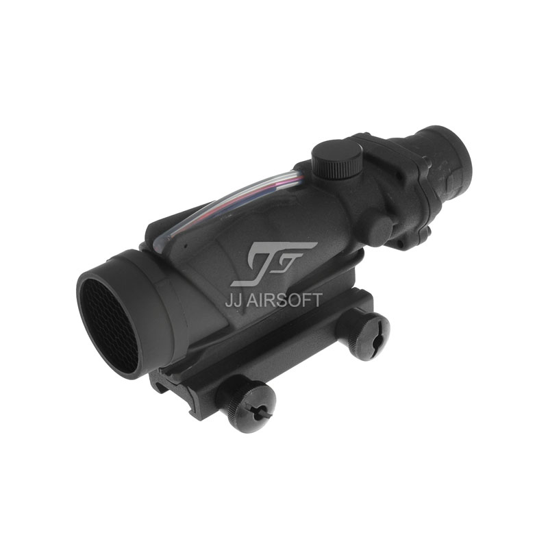 JJ Airsoft ACOG 4x32 TA31 Red Fiber Illuminated Red Crosshair Rifle Scope (Black/Tan) Buy one get one FREE killflash Kill Flash jj airsoft 3x magnifier with killflash and xps 3 2 red green dot black tan buy one get one free killflash