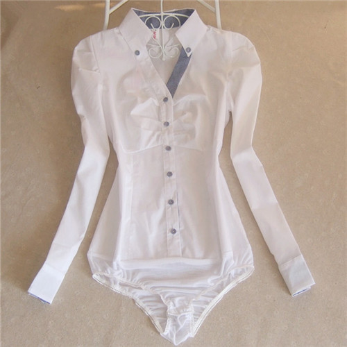 2017 Plaid Shirt Blouse Women Cotton Bodysuit Formal Shirts Female ...