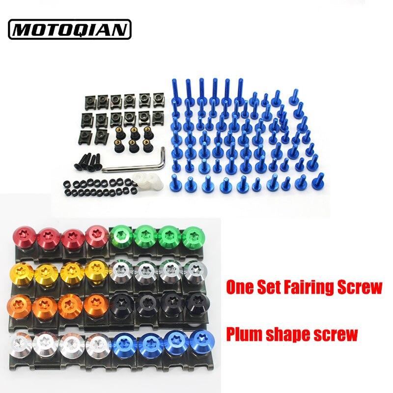 Vis de moto universelles corps de carénage boulons Spire vis écrou pour Honda CBR 600 CBR600 F2 F3 F4 F4I NC700S NC700X NC750X NC750S