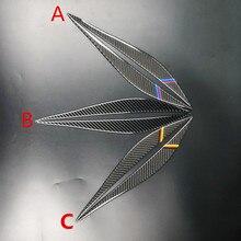 Стайлинга автомобилей углеродного волокна Верхняя и нижняя накладки на фары для BMW F30 320i 325i 316i 3 серии Аксессуары Передние фары брови