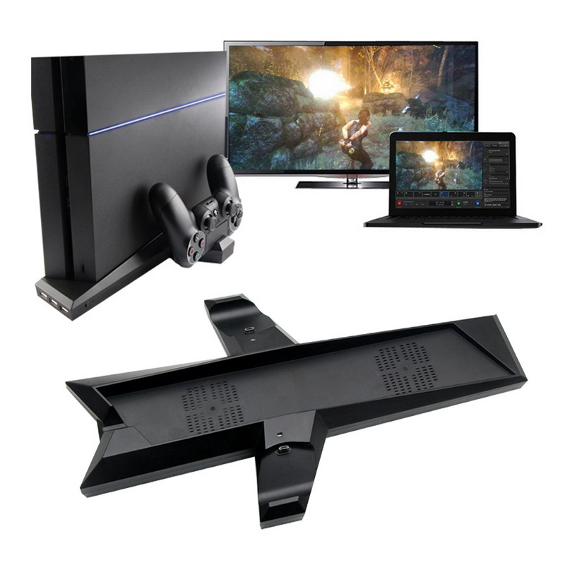 Dual Charger PS4 Vertical Cooling Station Stand WITH Dual Controller Charging Dock