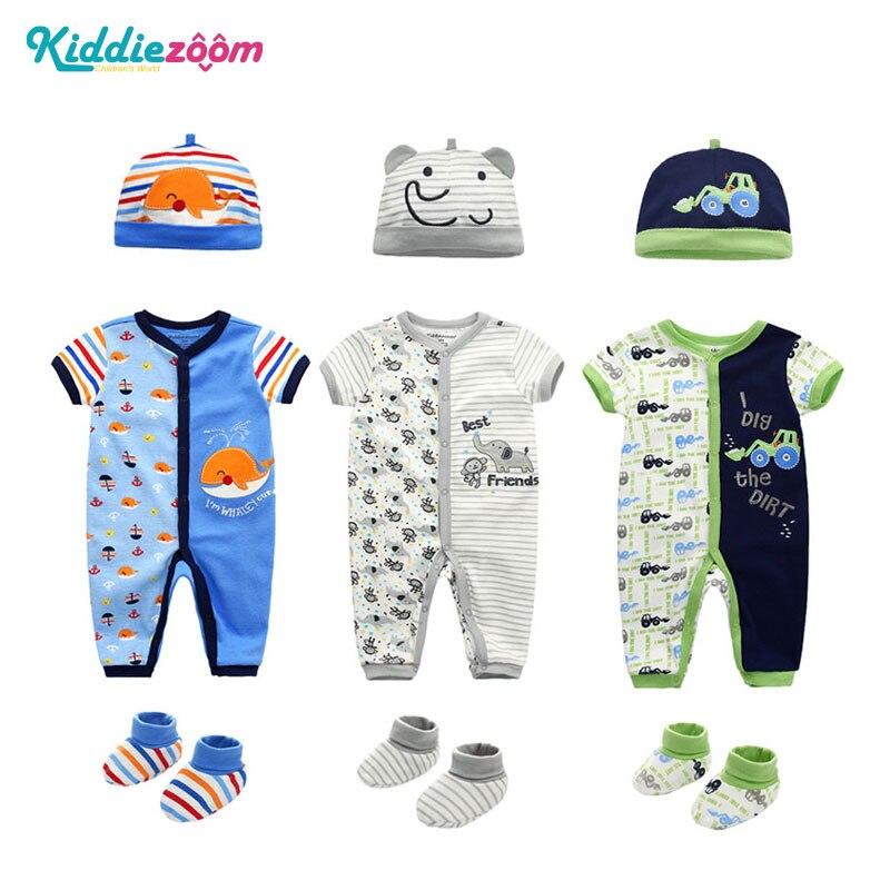 Neugeborenen Cut Cartoon Baby Strampler Oansatz Baby Mädchen Romper 0-12 M 100% Baumwolle Baby Overall Ropa Bebe Baby Mädchen Kleidung