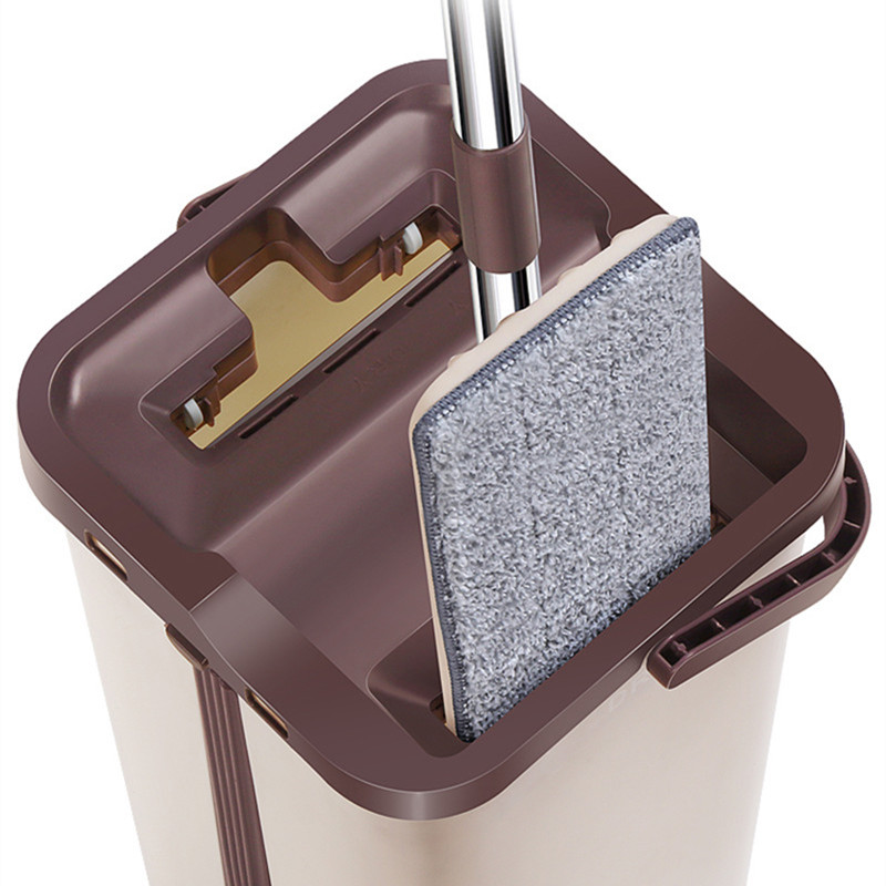 NEW No hand Washing Lazy Mop Bucket Dusting Scraper Magic Fourrure Cleaner Flat Self wringing Double Sided Dry Wash Swabs in Buckets from Home Garden