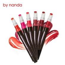 BEEZAN 6 Color Cushion Button Velvet Matte Lipstick Long Lasting Waterproof Lip Gloss Makeup Sheer Moist Lip with Flocking Brush