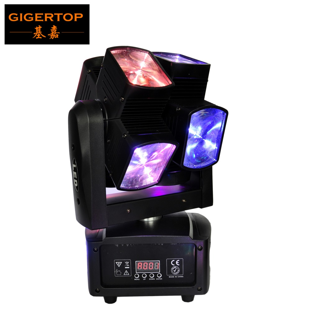 TIPTOP STAGE LIGHT 90W Double Roll Arm Compacted Beam Led Moving Head Light 8X10W RGBW Cree Spot with Hanging fast Lock clamp