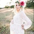 Women Maternity Photography props dress lace Vestidos Autumn Women Dresses Crochet beach dress sexy, sheer, beach, boho, gown