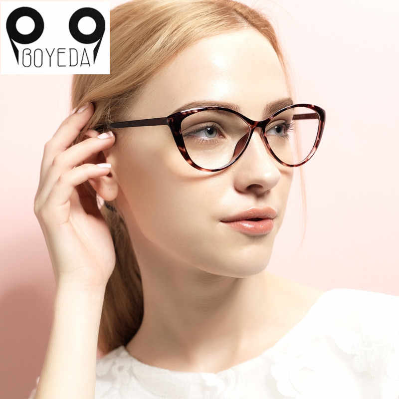 14d18f18b6 ... BOYEDA TR90 Fashion Spectacle Frame Female Grade Clear Glasses Vintage  Computer Eyeglasses Retro Women Cat Eye ...