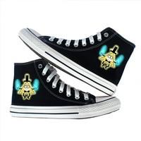 anime Gravity Falls shoes Bill Cipher Cartoon printed canvas shoes Men Women Boys Girls Unisex high top flat Fashion shoes