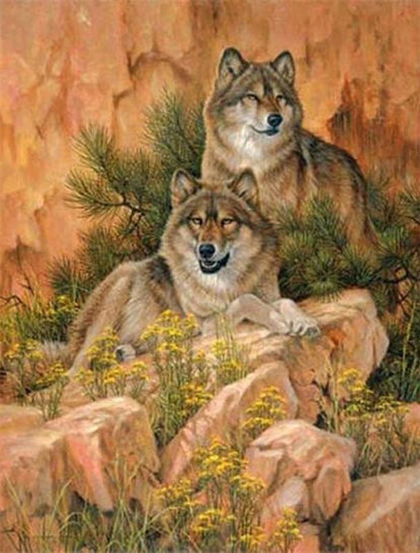Wolf5d diamante ricamo animale lupo diamante di cristallo punto croce diamante quadrato set unfinish decorativo pittura diamante