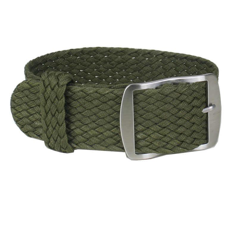 """מר NENG Watchbands 20 מ""""מ 20 מ""""מ עבור Perlon דרק ירוק חדש 22 מ""""מ נאט""""ו ניילון צבאי צפו ברצועה בנד 18 צוללנים מוברש צפה באקל"""