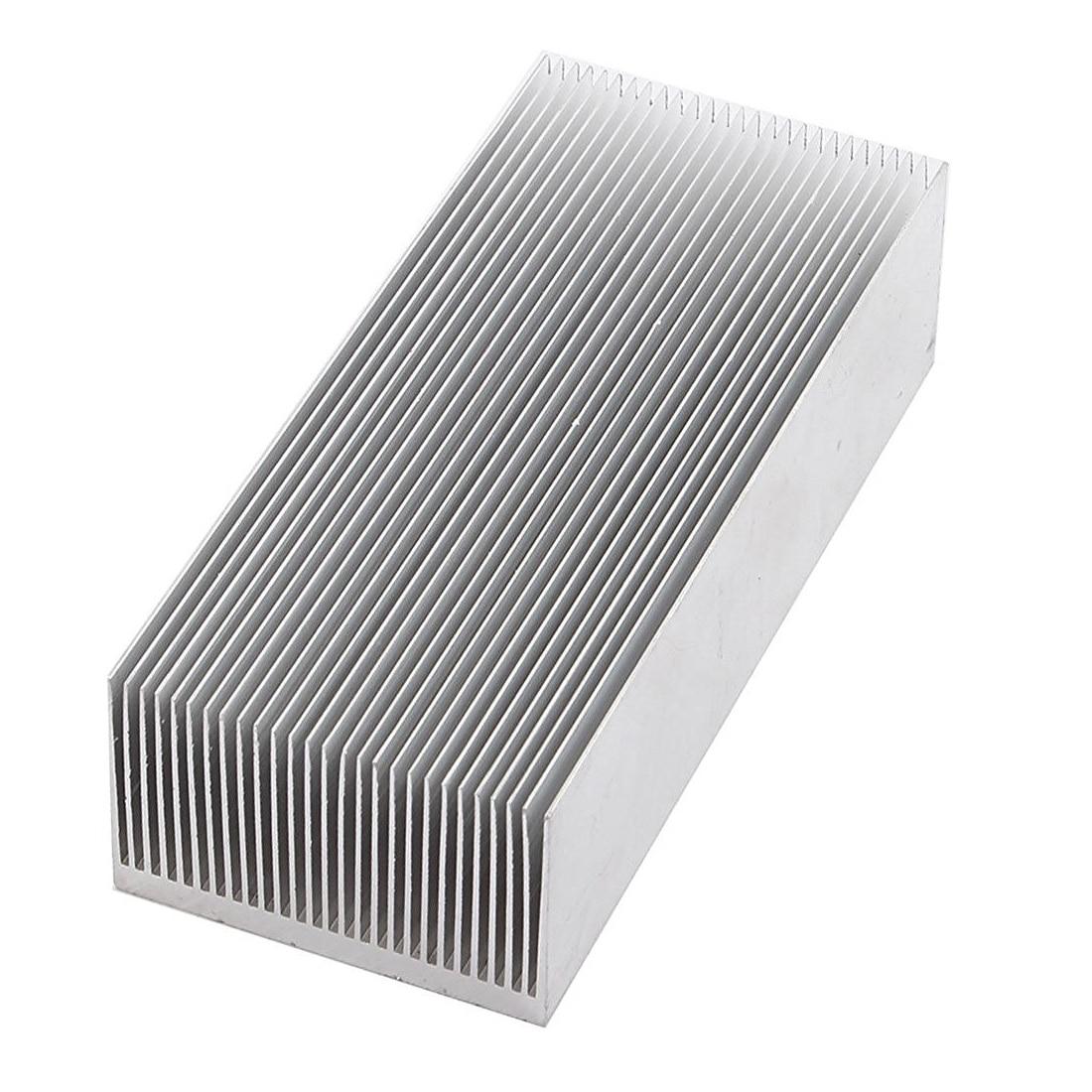 Aluminum Heat Radiator Heatsink Cooling Fin 150x69x37mm Silver Tone