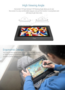 "Image 3 - Parblo Coast10 10.1 ""IPS גרפי צג ערכת עיצוב + סוללה משלוח עט + צמר אוניית תיק + שני אצבע כפפה + Stylus שרוול"