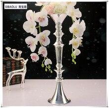 20″ vase decoration home silver Vase mariage Tall flower vase for wedding decoration Living room Tabletop decoration