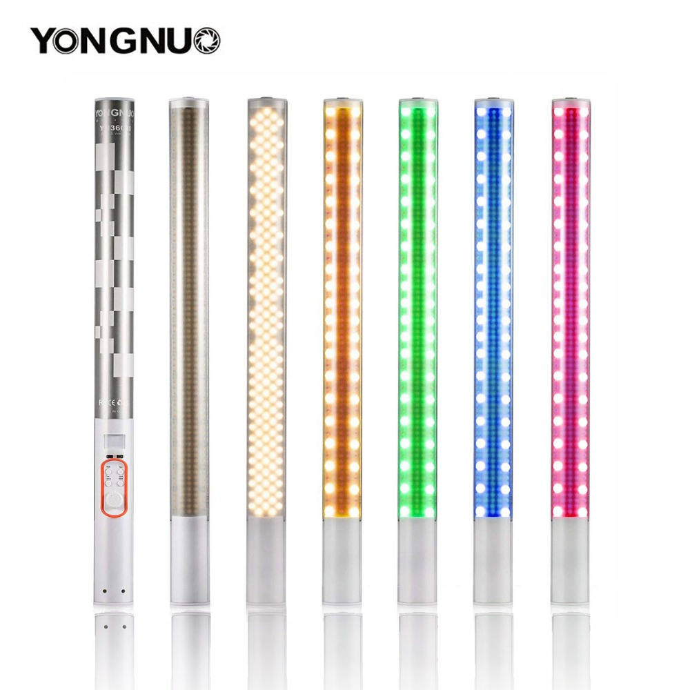 YONGNUO YN360 / YN360II LED Photo Video Light 3200K-5500K and RGB Full Color Portable Handheld Photography Ice Stick Tube LightYONGNUO YN360 / YN360II LED Photo Video Light 3200K-5500K and RGB Full Color Portable Handheld Photography Ice Stick Tube Light