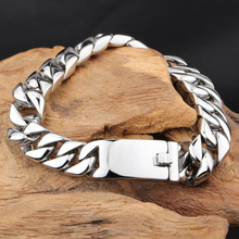 Men Bracelet Silver Color / Gold Black Stainless Steel & Bangle Male Accessory Hip Hop Party Rock Jewelry