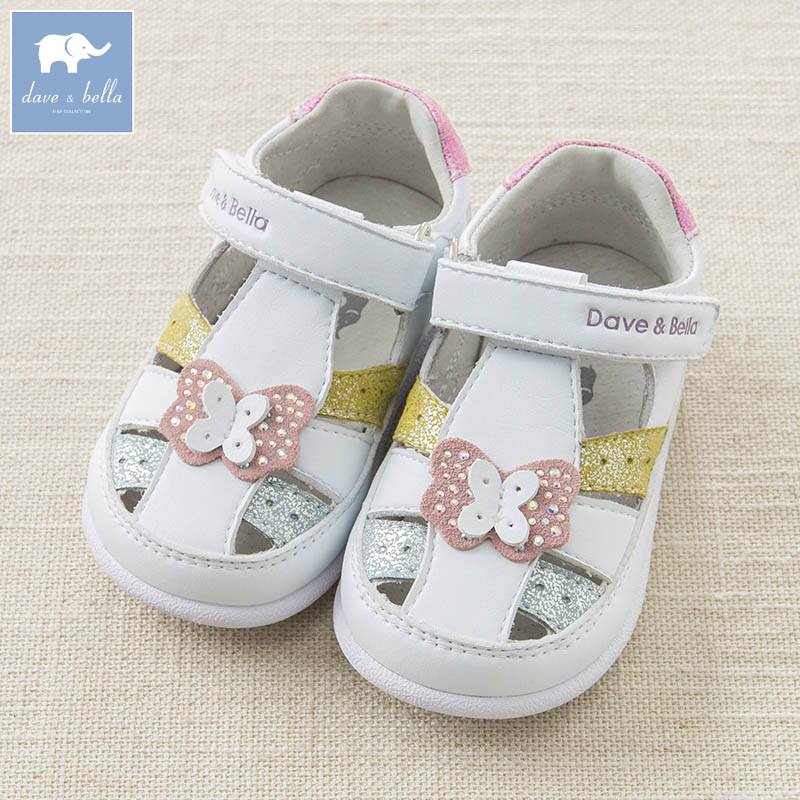 DB6989 Dave Bella spring summer baby girl white sandal brand shoes