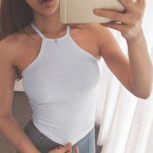 Verano de las mujeres chaleco camiseta sin mangas Tops t camisas Top Halter  Bra Vest W1 36415f595bfc
