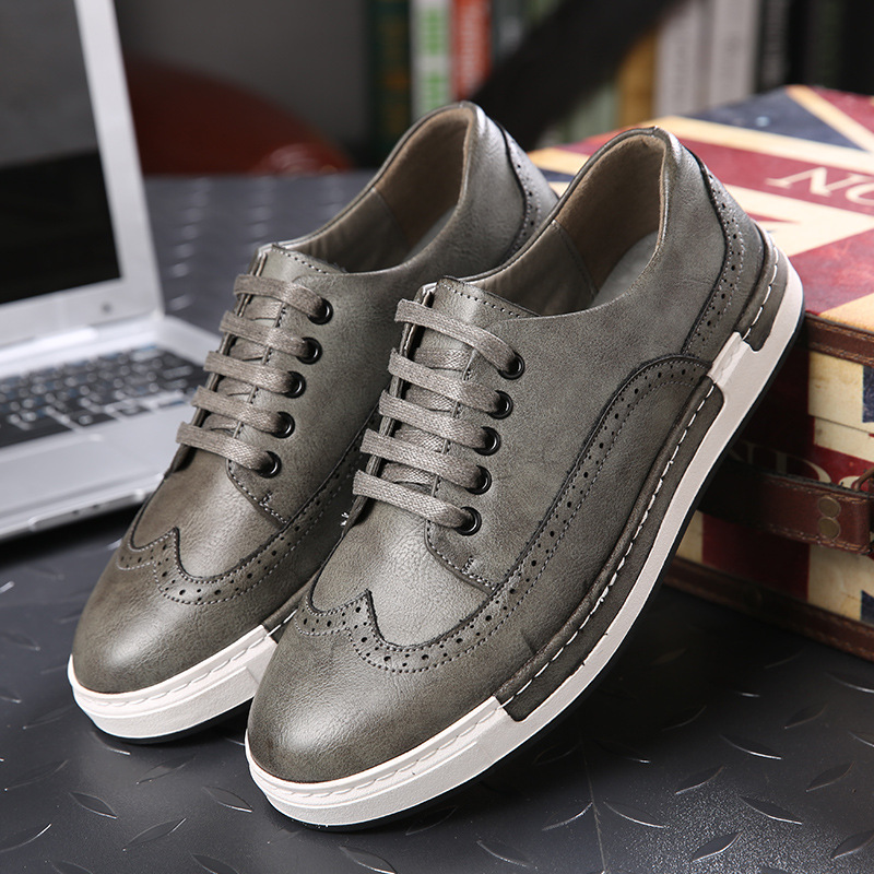2017 New Brand Arrival Spring and Autumn Men Shoes Genuine leather Men Shoes Casual Fashion Casual Shoes Men Flats SIZE 38-44 brand new arrival handmade genuine leather men flats spring fashion lace up brand casual shoes ege breathable leisure shoes men