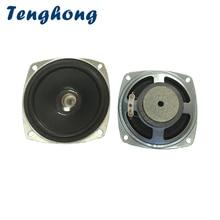 Tenghong 2pcs 3 Inch 78MM Portable Audio Speakers 4Ohm 5W Bluetooth Full Range Speaker Unit Home Theater Loudspeaker Light Hole
