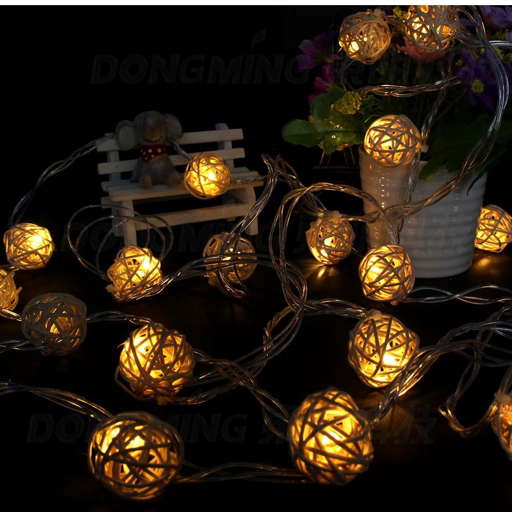 5m 20leds rotting Ball ledsträngslampor bröllopshage hängande - Festlig belysning - Foto 5