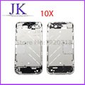 10pcs/lot Middle Frame Bezel Assembly Chassis Housing Mid Frame Chrome Bezel for iPhone 4 4S Replacement part Free Shipping