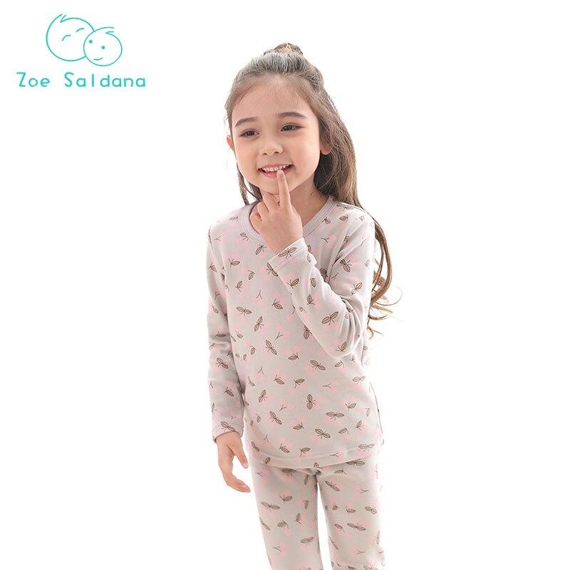 c6146ab2a7 Zoe Saldana 2018 Kid Clothes Children Pajamas Suit Baby Boys Girls Long  Johns Sets Unisex Baby Boy Girl Thermal Underwear