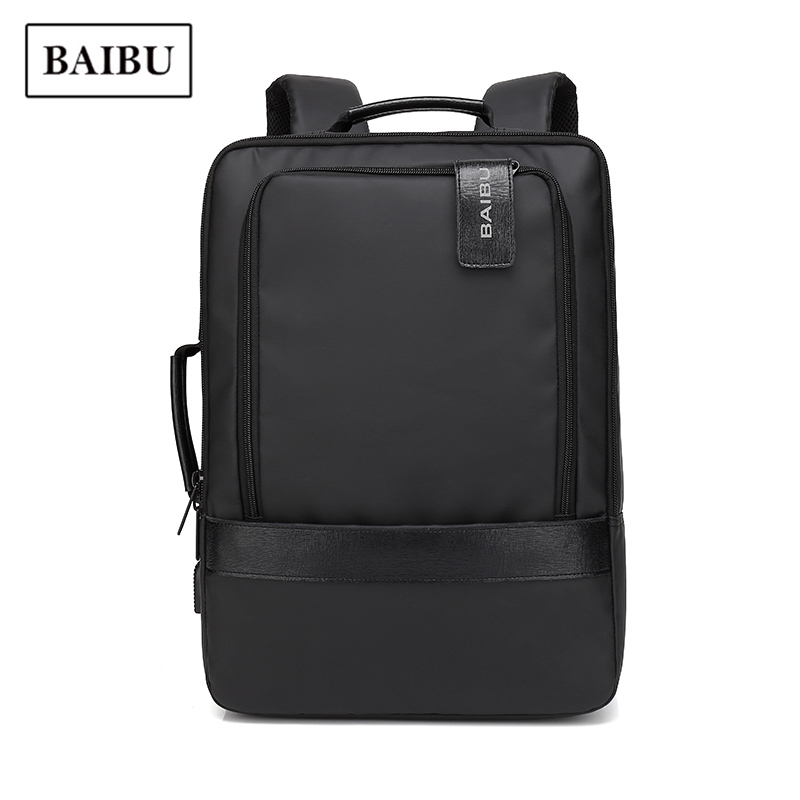 Waterproof Backpack Men Large Capacity Travel Business Portable Laptop Anti-theft Bag Pack Fashion Teenage Black School Backbag augur 2018 brand men backpack waterproof 15inch laptop back teenage college dayback larger capacity travel bag pack for male