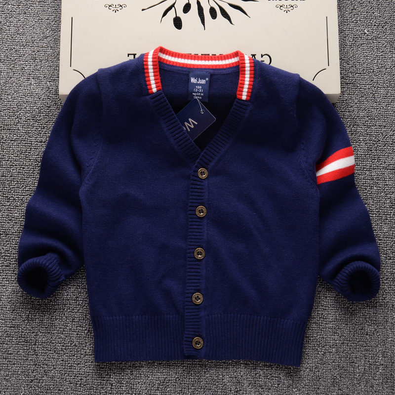 ae83944df Cardigan Sweater for Boys Brand Design Knit Sweater Kids Clothes ...