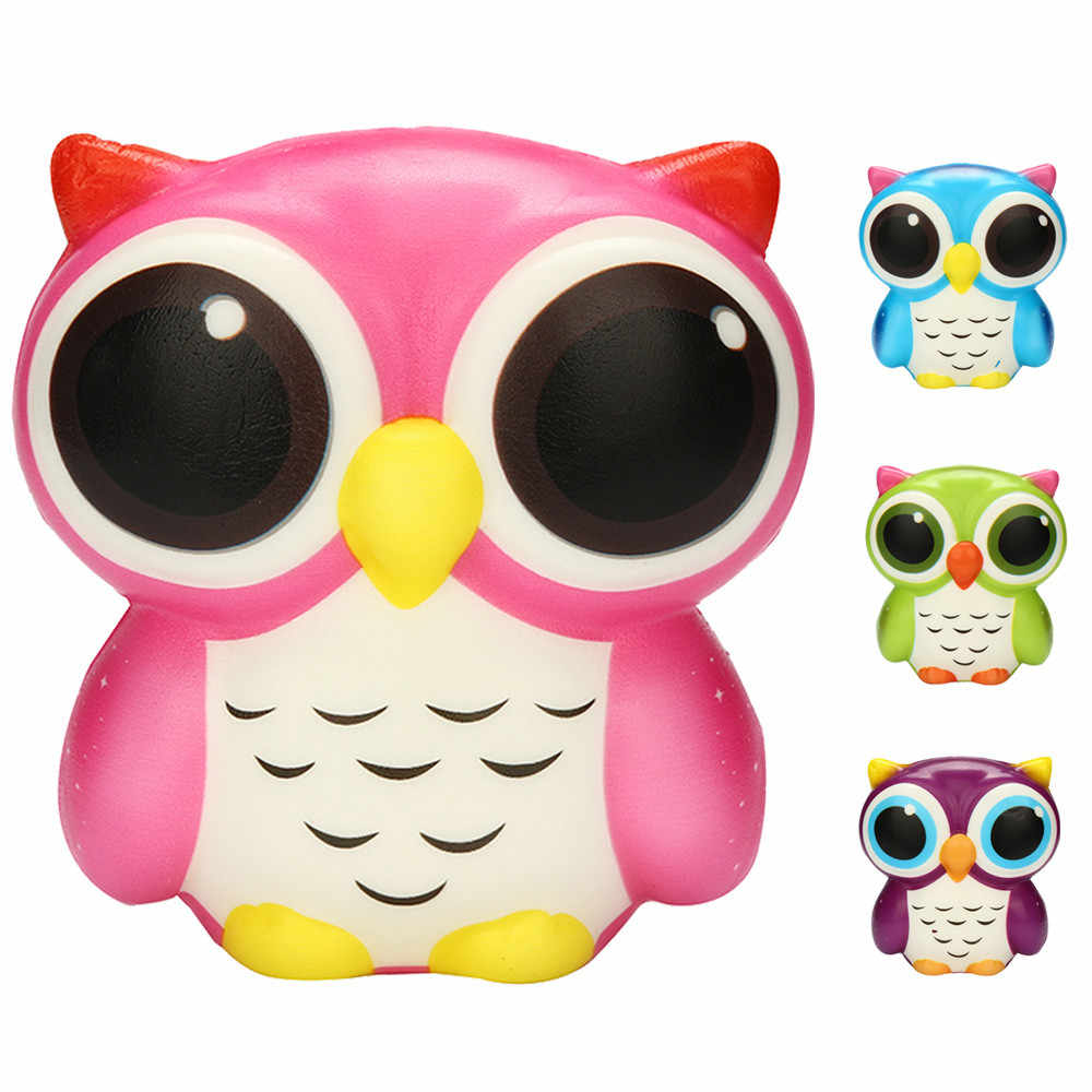 Squishy Skuishy Cute Animals Adorable Owl Squishy Slow Rising Cartoon Doll Cream Scented  Stress Relief Toy Anti-stress Toys