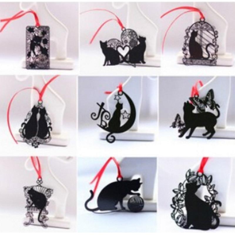 DIY Cute Kawaii Black Cat Metal Bookmark for Book Paper Creative Items Lovely Korean Stationery Gift Package Student 441 коллектив авторов комнатное цветоводство