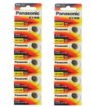 40pcs/lot New Original Battery For Panasonic CR1025 CR 1025 3V Lithium Button Coin Cell Batteries