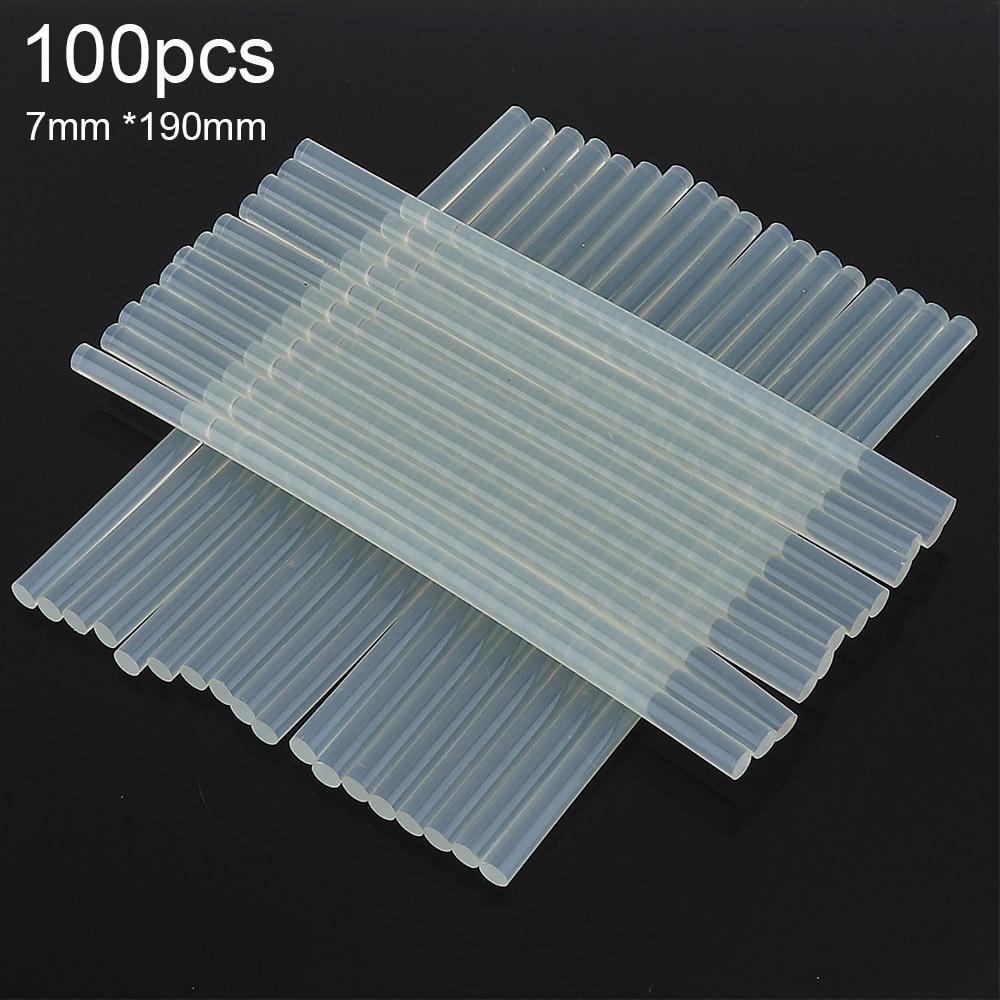 100Pcs/Lot 7mm X 190mm Hot Melt Glue Sticks For Electric Glue Gun Craft Album Repair Tools For Alloy Tool Accessories