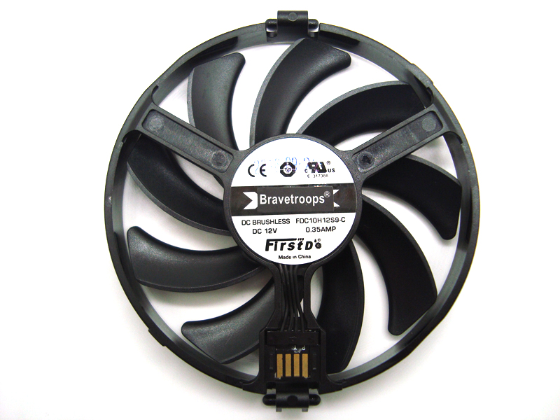 FreeShipping FDC10H12S9-C Cooler Fan Replace For XFX AMD Radeon R7 370 <font><b>RX</b></font> <font><b>470</b></font> 480 570 580 RX460 <font><b>RX</b></font> 460 <font><b>Graphics</b></font> <font><b>Card</b></font> Cooling Fan image