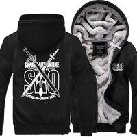 Men S Jacket Winter Thicken Hoody 2018 New Fashion Brand Print Anime Sword Art Online S