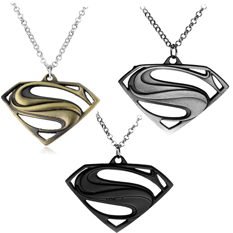 Marvel Avengers Superhero Superman Pendants Necklaces Pendant Sweather Chain For Men Women gifts