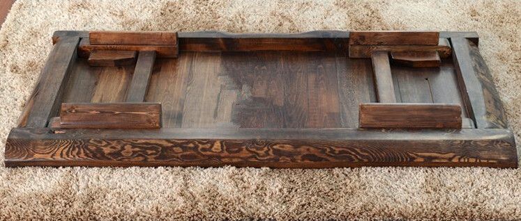 Mesa de té asiática rectangular de color antiguo Muebles de madera - Mueble - foto 5