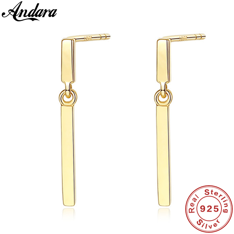 Real Pure 14k Gold Long Stud Earrings Women Wedding Yellow Gold Jewelry Brincos Fine JewelryReal Pure 14k Gold Long Stud Earrings Women Wedding Yellow Gold Jewelry Brincos Fine Jewelry