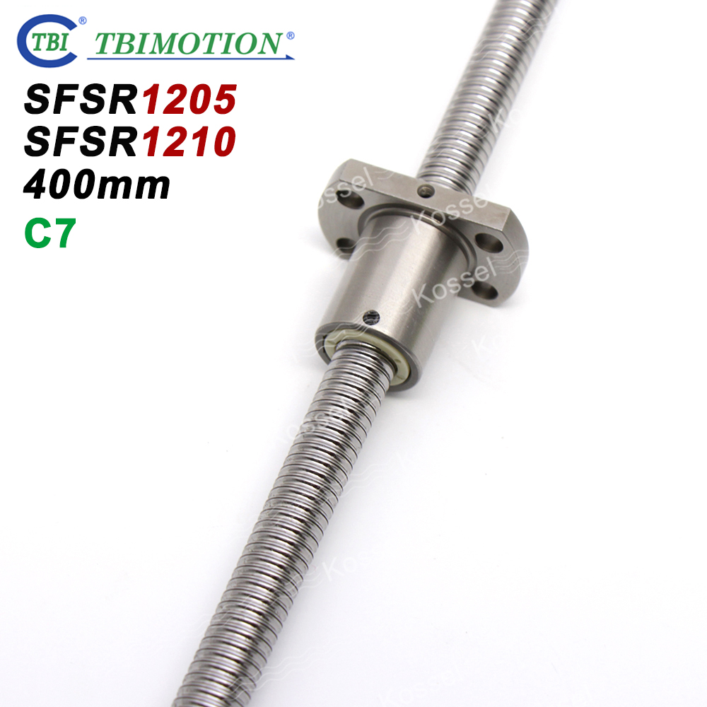 TBI SFS 1205 1210 12mm Ballscrew SFU1204 C7 with Ball Nut for CNC kit set 400mm TBI SFS 1205 1210 12mm Ballscrew SFU1204 C7 with Ball Nut for CNC kit set 400mm